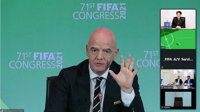 ฟีฟ่าประชุมใหญ่สามัญ มีมติให้ศึกษาความถี่จัดการแข่งขันฟุตบอลโลก จาก 4 ปีครั้ง เป็น 2 ปีครั้ง